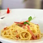 Der Klassiker: Spaghetti Carbonara.